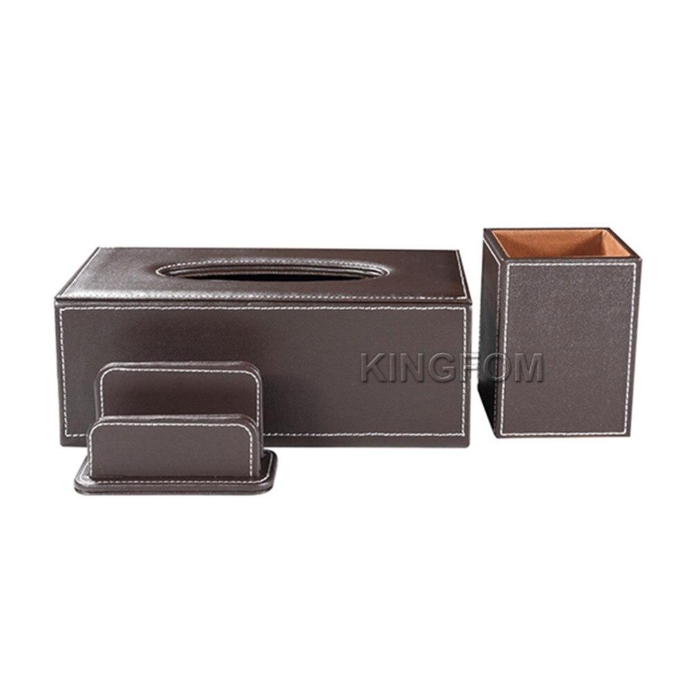 Modern Style Office Desktop Stationery Organizer Set Include Tissue Case Pen Holder Business Card Holder Stand T101 цена