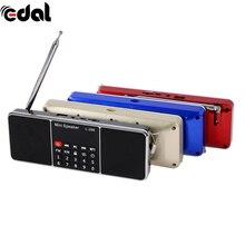 Мини Портативный Аккумуляторная Стерео L-288 Fm-радио Спикер ЖК-Экран Поддержка TF Карта USB Disk MP3 Плеера Громкоговоритель
