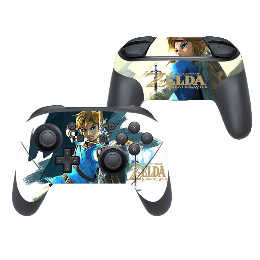US $3 51 12% OFF|Game The Legend of Zelda Vinyl Cover Decal Skin Sticker  for Nintendo Switch Pro Controller Gamepad Skin Stickers-in Stickers from