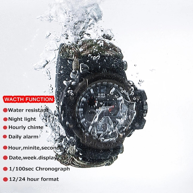 Outdoor Survival Watch Multifunctional Waterproof Military Tactical Paracord Watch Bracelet Camping Hiking Emergency Gear EDC 4