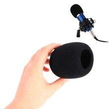 High Quality Universal Black Handheld Stage Foam Ball-Type Mic Anti Saliva Windscreen Microphone Cover For Karaoke Mikrofono