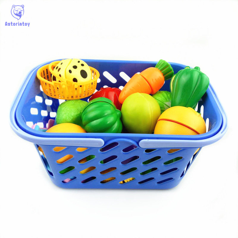 23 pieces / set of plastic fruit and vegetable baskets kitchen cutting toys early development and education baby childrens toys