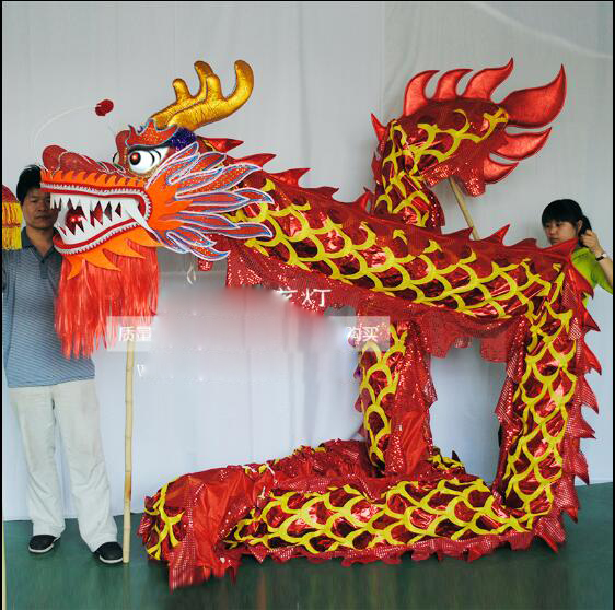 1800cm long Chinese Folk Dance dragon dance Standard size 90*50*120cm 4 colour