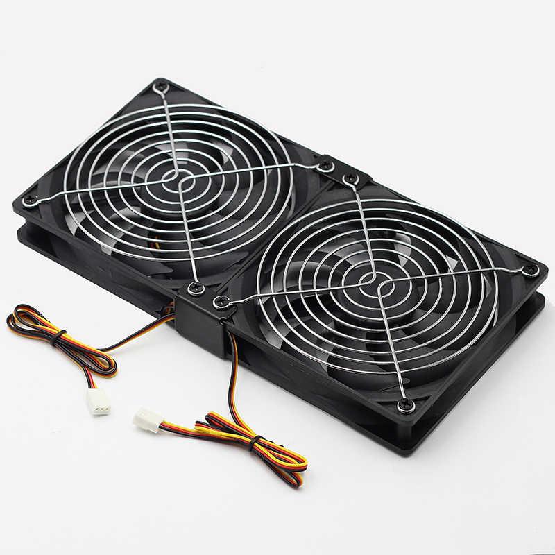 12 CENTIMETRI VENTOLA PWM Più Potente per Bitcoin Mining 120 millimetri DC 12V 3500RPM 85CFM Per BTC Minatore bitcoin Asic S7 S9 Server Ventola di Raffreddamento
