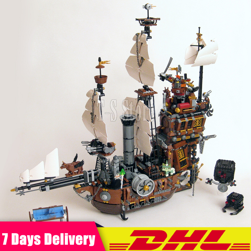 DHL IN STOCK 2791PCS LEPIN 16002 Pirate Ship Metal Beard's Sea Cow Model Building Blocks Bricks Toys Compatible 70810 dhl free shipping lepin 16002 pirate