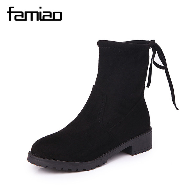 best wholesale cheap price free shipping best prices 2018 Women Boots Flock Ankle Boots Luxury Brand Shoes Pointed Toe Winter Women Boots Ladies Party Western Stretch Fabric Boot Same Stars very cheap online L4EMF