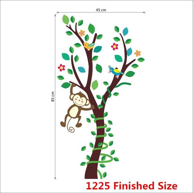 Cartoon Animals Monkey Flower Tree Forest Wall Stickers DIY Home Decor Wall  Decals Children Kids Nursery Part 84