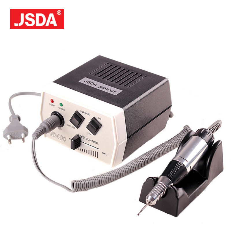 Freeshipping 2017 Direct Selling Real Jsda Nails Art Machine Manicure Pedicure Bits File Electric Nail Drill 30000rpm 35w electric nail drill machine manicure pedicure portable nail art tools strong polishing machine cutter drill file bits set nails