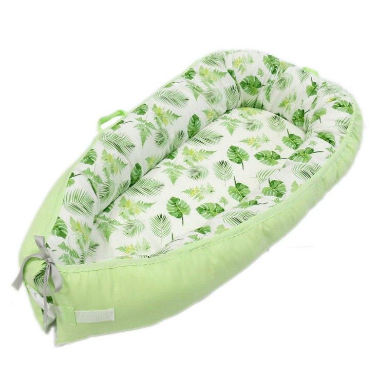 80*50 cm bébé nid lit Portable berceau lit de voyage infantile bambin coton berceau pour nouveau-né bébé couffin pare-chocs - 4