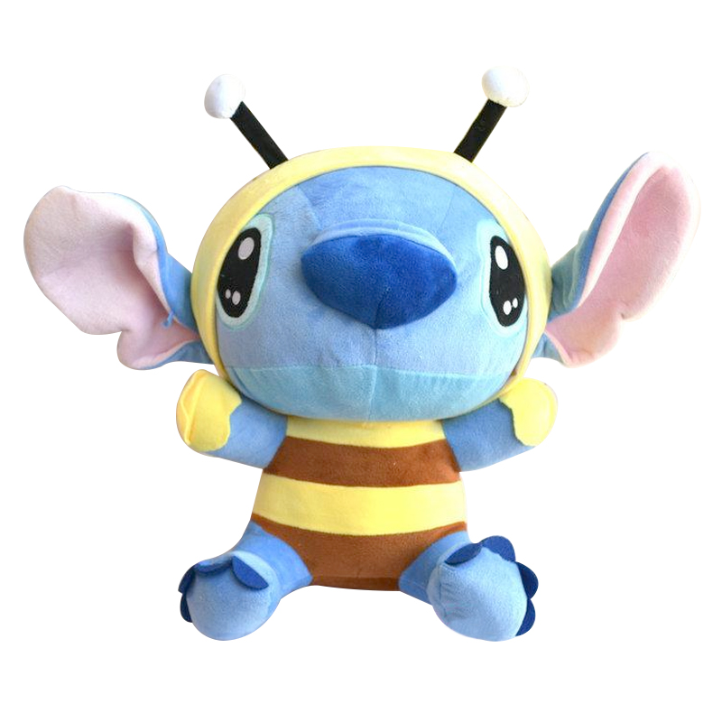 Lilo and Stitch 1pcs 8 20cm Bee Stitch cosplay TV Stuffed Soft Plush Toys Cartoon Toy For Kids Baby Boys Girls kawaii stitch plush toys lilo and stitch stich plush toy soft stuffed animal doll kids toys christmas gift 30cm