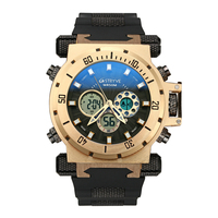 STRYVE Mens Watches Top Luxury Brand silicone Men Sports Watches Men's Quartz LED Digital Clock Waterproof Military Wrist Watch