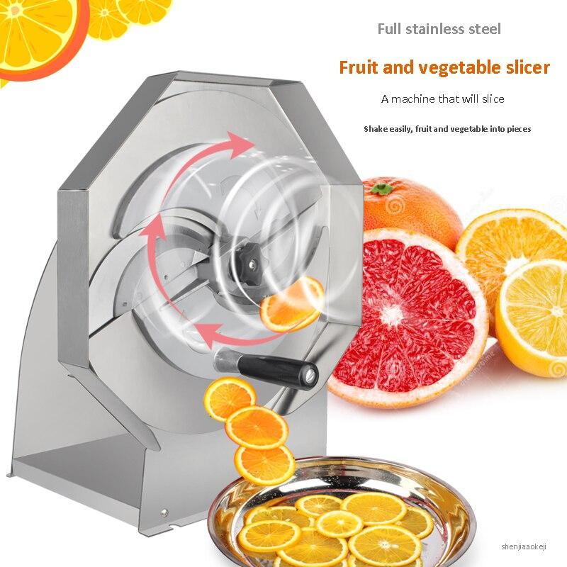 Commercial Manual Vegetable Fruit lemon Slicer Stainless Steel Thick Adjustable Slicer lemon slicing machine 0.8-8MMCommercial Manual Vegetable Fruit lemon Slicer Stainless Steel Thick Adjustable Slicer lemon slicing machine 0.8-8MM