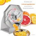 Trancheuse réglable épaisse d'acier inoxydable de trancheuse de citron de Fruit végétal manuel Commercial 0.8-8 MM