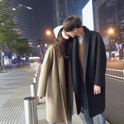 Black Manteau Outwear Mujer Épais Coréenne khaki Lx242 Laine Hiver Abrigos De Lovers'windbreaker Nouveau Automne 2018 Mode Chaud Femmes x7a04CqCw