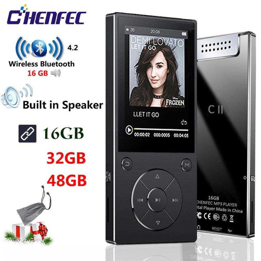 MP3 Lecteur avec haut-parleur bluetooth 2.4 Pouces Écran métal hifi lecteur de musique avec fm radio eBook salut fi walkman support usb, mini SD