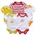 Romper do bebê de manga curta de algodão crianças meninos luvable amigos jumpsuits desgaste do bebê bebe roupas conjunto ternos do corpo