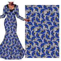 blue water wave fabric tecido African national clothing batik cotton printing fabric 497 african wax fabric 100% Cotton Plain
