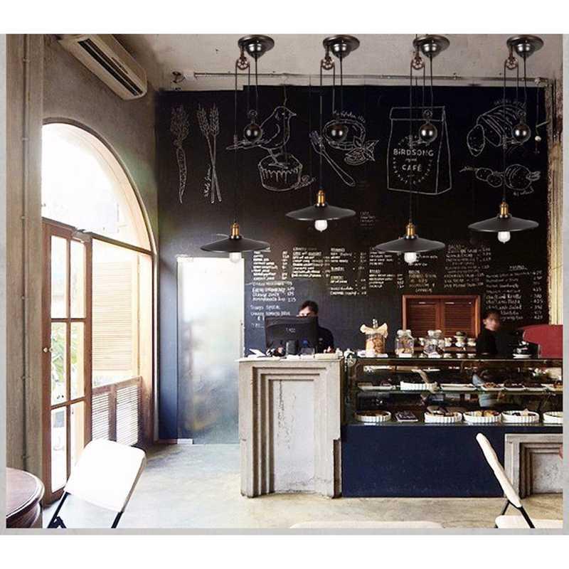 Подвесные светильники lukloy лампы, промышленный ролик регулируемый провода выдвижной подвесной светильник для кафе магазин ресторан Лофт