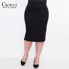 CACNCUT Falda ceñida informal de negocios para mujer, falda ceñida de talla grande, negra, para oficina, talla grande 6XL