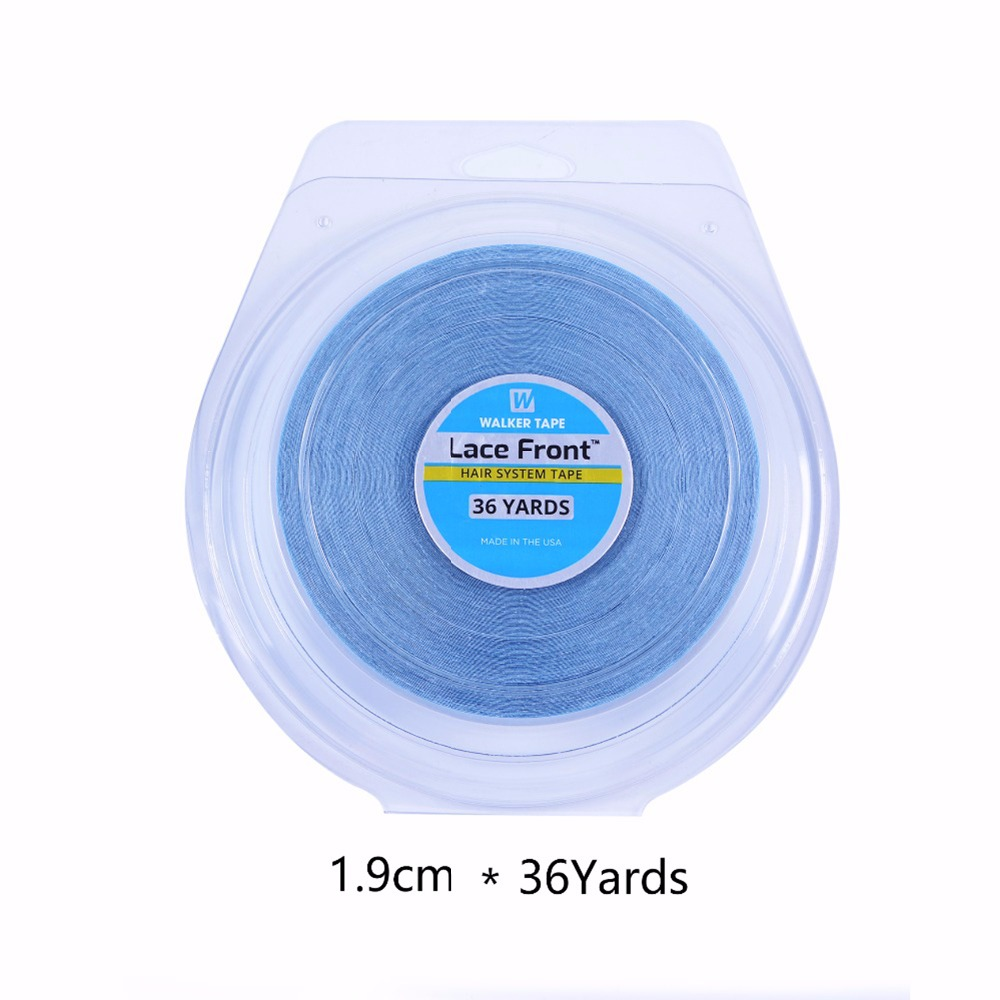 Сильный кружева спереди поддержка ленты 36 ярдов 1,9 см бисером клей лента для ленты волос парики шнурка