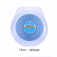 Strong Lace Front Support Tape 36 Yards 1.9cm Beaded Adhesives Tape For Tape Hair Extensions Lace Wigs