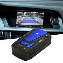 New Blue/Red 360 Degrees Car Radar Detector 16 Band Voice Alert Laser V7 Security Speed Radar Detector Laser LED Display Hot цена и фото