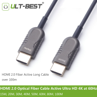 ULT BEST HDMI 2 0 Optical Fiber Cable Active Light High Speed Ultra HD 4K 60Hz