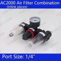 Free Shipping Pneumatic Parts Air Source Treatment Unit Pressure Regulator Oil Water Separation AC2000