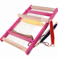 New Adjustable Wooden Big Size Knitting Machine for Kids Scarf DIY Tool Accessory Knitting Machine