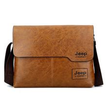 2018 New JEEP BULUO Business Bags Man Single Shoulder Bag Computer Briefcase Men PU Leather Messenger Bag Male Crossbody Bag Hot