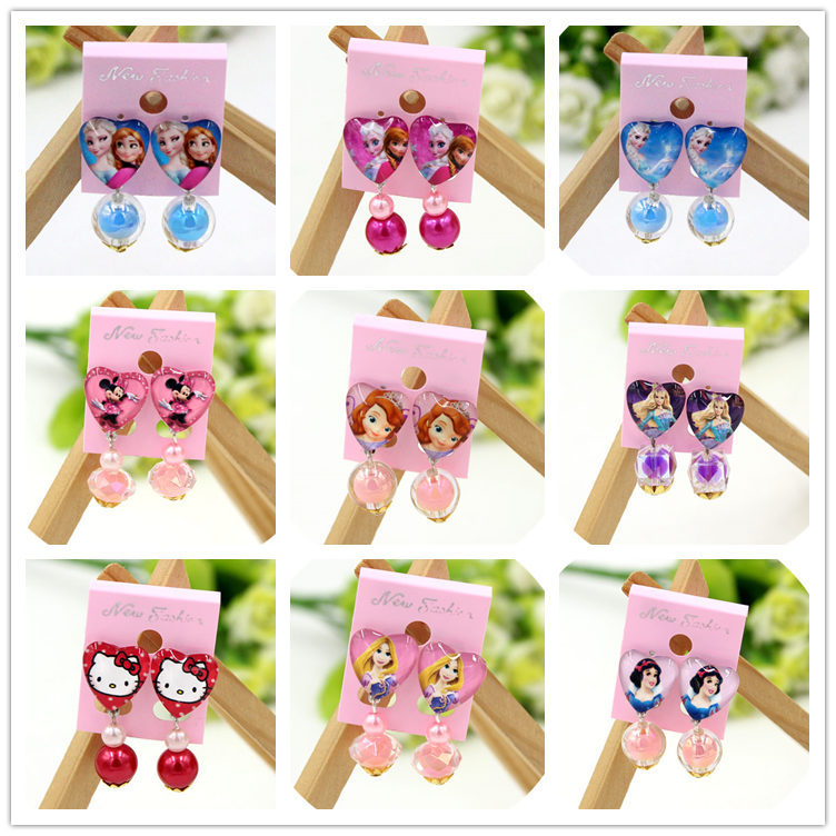 Fashion Children Headwear Hello Kitty Ear-rings Ear Clip Hair Accessories Pearl Headwears Gifts For Cute Baby halloween party zombie skull skeleton hand bone claw hairpin punk hair clip for women girl hair accessories headwear 1 pcs