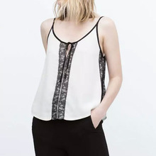 Nice Summer Nice Women Lace Tank Tops Transparent Tops Sling Camisole Strap Lace Tops GG015
