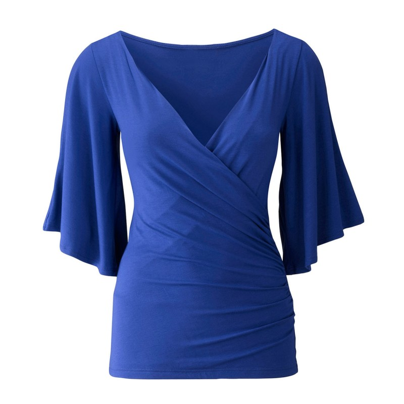 women blouses blue