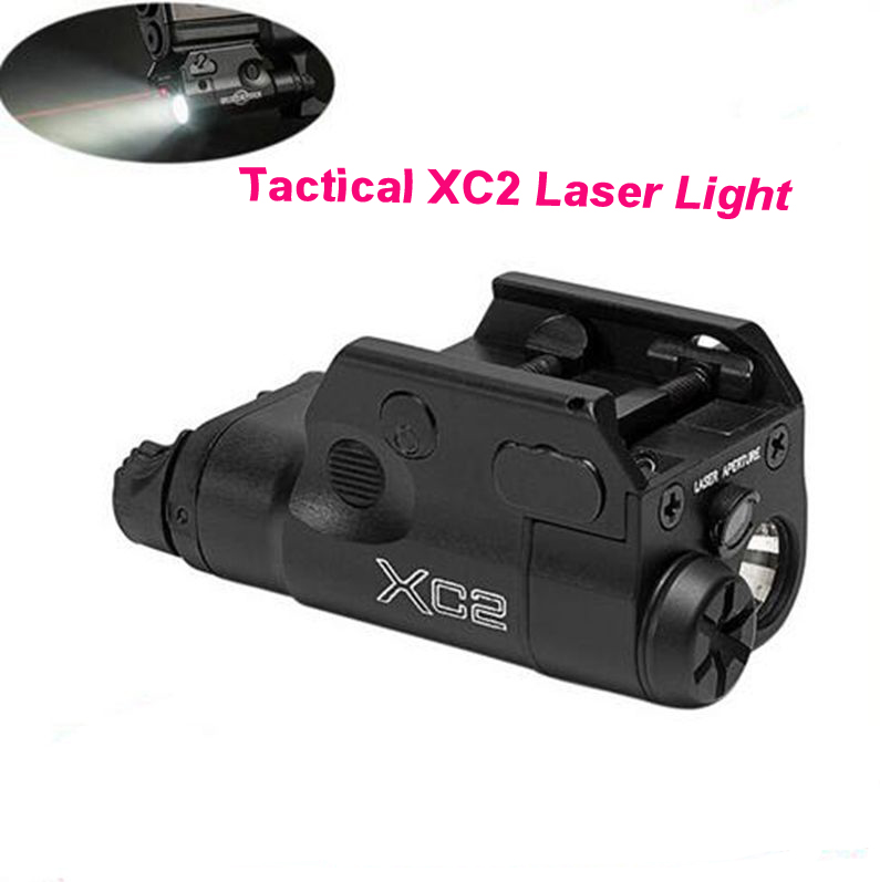 Tactical XC2 Ultra Compact Pistol Light Red Dot Laser Flashlight LED MINI White Light 200 Lumens Hunting Airsoft element ex276 peq15 battery case military high precision red dot laser integrated with led flashlight red laser and ir lens