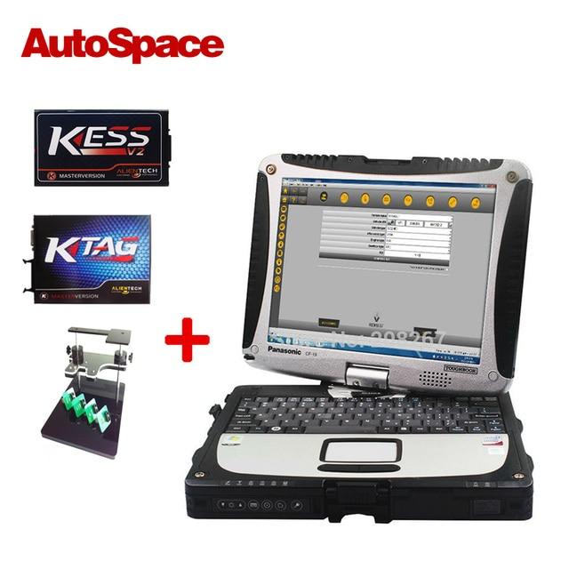 KESS V2 V2.23 FW4.036 + KTAG К-TAG V2.13 FW6.070 + BDM рамка ECU Чип-Тюнинг Полная Установка На Toughbook CF19 Диагностики Ноутбука