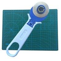 A4 커팅 매트 1 pcs 및 45mm 휠 커터 1 pcs 조합 DIY 핸드 툴 학생 학습 사무 용품