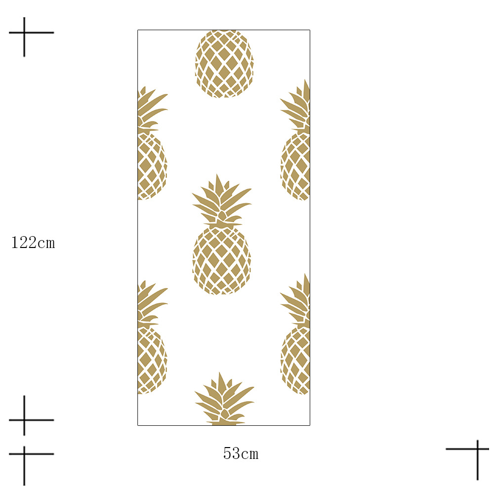 Creative Wall Wallpaper Gold Pineapple Pattern Door Stickers Decor Art Stikcer Home Decoration Accessories S12 In From Garden
