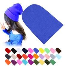 Winter Warm Hats Unisex Knitting Women Men Wool Fluorescence Color Tabby Solid Elastic Beanie Hedging Hat