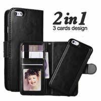 LANCASE étui pour iphone X Étui En Cuir Détachable Flip Housse Pour iphone XS MAX Cas X XR Portefeuille Pour iphone 6 6s 7 8 plus Coque
