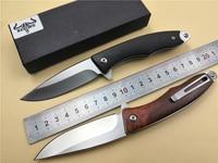 KESIWO KS68 knife folding Pocket EDC Knife wood handle 9cr18mov blade Ball Bearing Flipper Utility Outdoor Camping knife