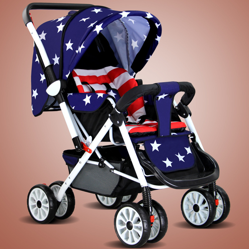 Howell Baby Stroller Can Sit Down Folding Umbrella Car Bb Ultra Portable Two-way Four Wheel Barrow aoxin new children s karting four wheel exercise can sit baby pneumatic tires exercise bike