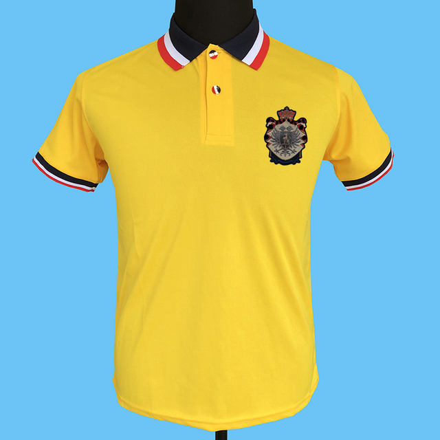 Seestern brand clothing men's polos fashion applique crown lion flying bird flag badge new dress knitted collar breathable polo
