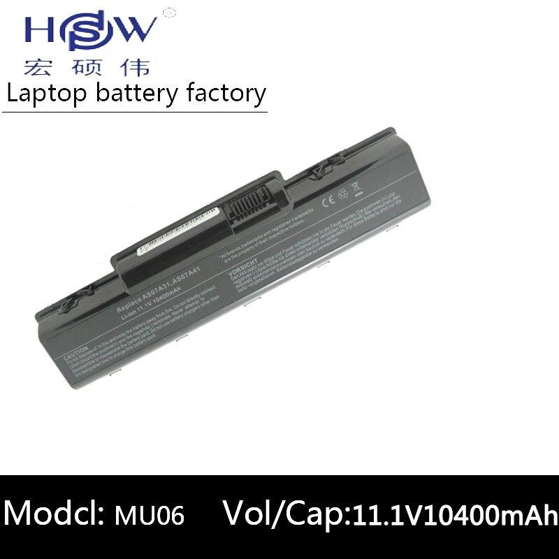 HSW 10400 MAH batterie d'ordinateur portable pour Acer Aspire 4710 4720 5335Z 5338 5536 5542 5542G 5734Z 5735 5740G 7715Z 5737Z 5738 bateria akku