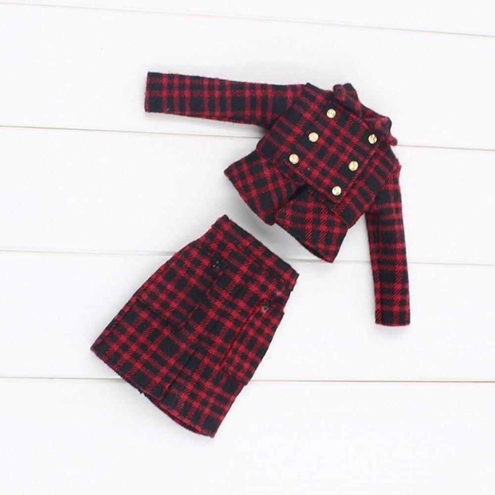 For 12 Neo Blyth doll doll Red&White Plaid Dress/Clothes for 12 blyth doll trend white dress clothing blyth doll