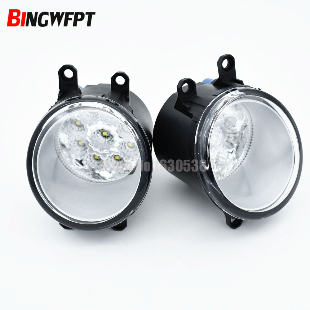 2pcs/lot For <font><b>Toyota</b></font> <font><b>4Runner</b></font> 2014 <font><b>2015</b></font> 2016 2017 9-Pieces Leds Fog Lights H11 12V LED Fog Head Lamp Car-Styling image