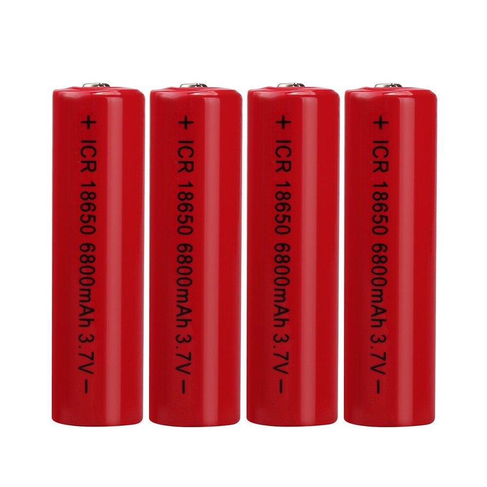 CARPRIE 4 stücke 3,7 v 6800 mah Li-Ion Wiederaufladbare 18650 Batterie Für Für Taschenlampe Notfall Beleuchtung Tragbare Geräte Werkzeuge