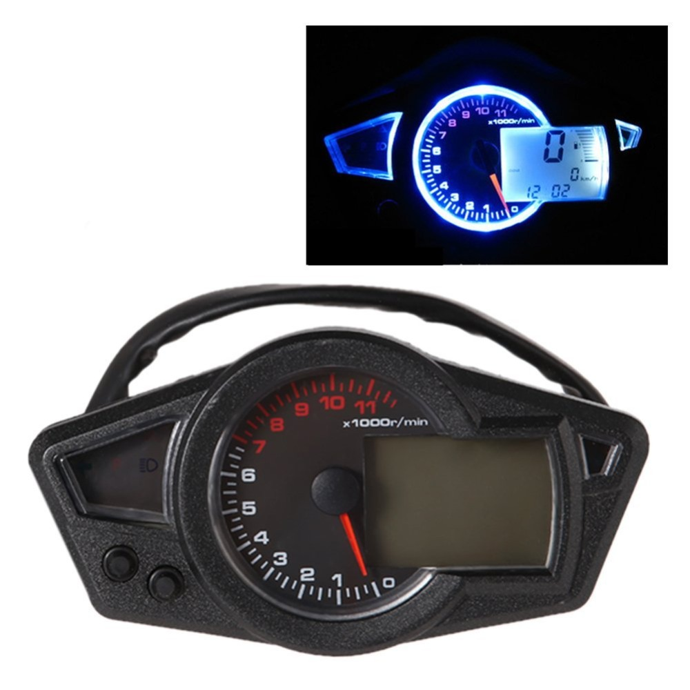Speedometer Blue Lcd Digital Backlight Speedometer