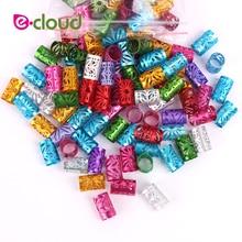 Hair-Rings-Clips Braids-Beads Dreadlock Metal-Tubes Crochet Adjust for 10mm-Hole 50pcs/Lot