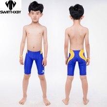 HXBY, мужские плавки для мальчиков, купальный костюм для соревнований, тренировочный детский купальник для мальчиков, профессиональные детские плавательные шорты, 5XL