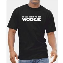 Up All Night To Get Wookie TShirt - Mens Boys Star Wars Daft Punk Ideal Gift Print Tee Men Short Sleeve Clothing free shipping